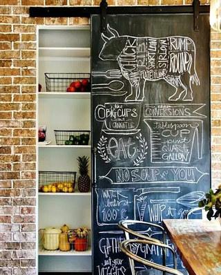 厨房谷仓门收纳设计