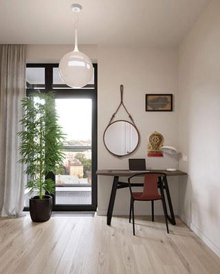 混搭风格二居室书桌装修图片