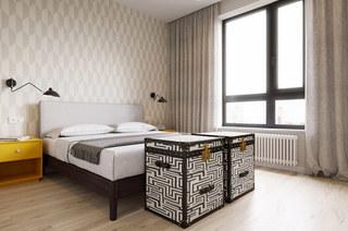 北欧混搭风格卧室装潢图
