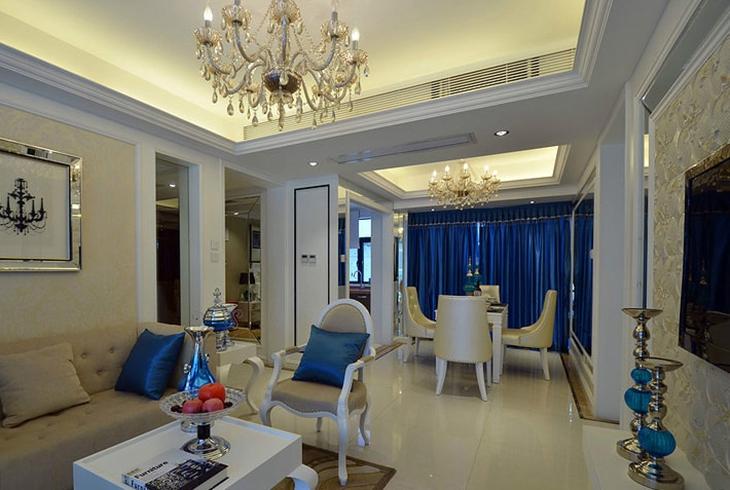 欧式风格两室两厅装修客厅设计
