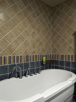 150平地中海风格装修浴缸效果图