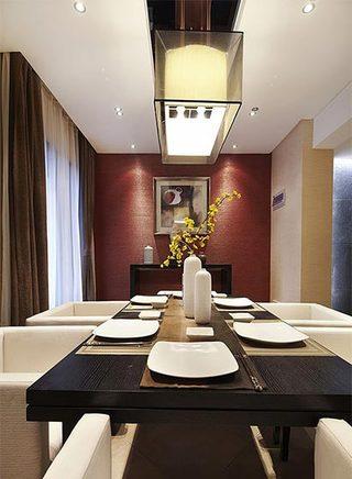 120平米中式两居室摆放效果图