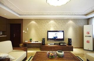 简约风格公寓装修客厅壁纸图片