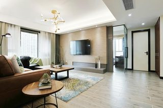 118㎡现代风格公寓走廊效果图