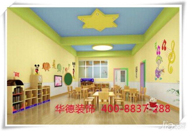 该幼儿园室内设计以暖色健康为主,墙饰主题也选用了孩子最喜欢的卡通