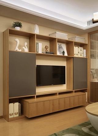 简约风格两居室装修电视柜设计