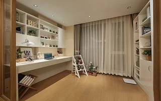 简约风格两居室装修书房装修图片