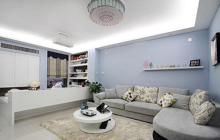 90平两室两厅装修客厅吊顶设计