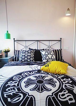 波普混搭风卧室床品设计