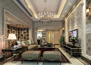 200平别墅装修客厅设计图图片