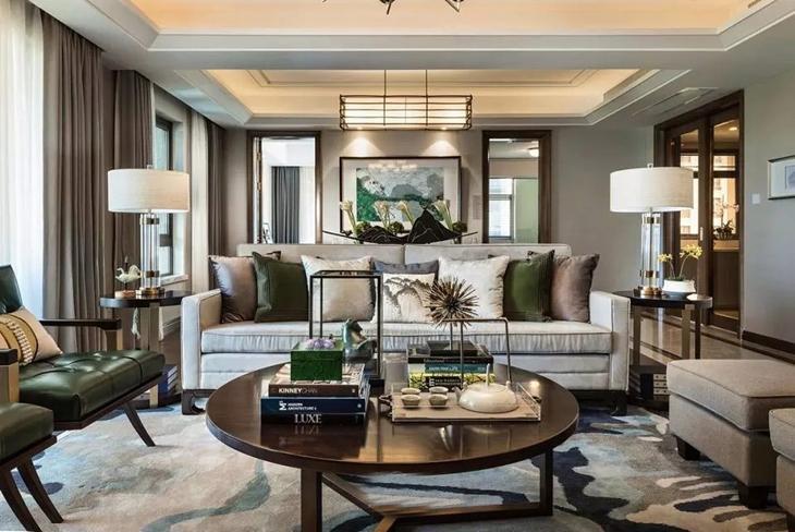 典雅中式客厅沙发效果图