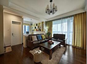 美式风格三居室装修案例  温馨舒适不失大气