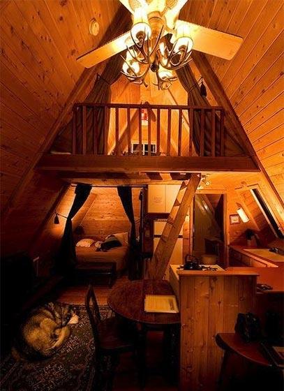 阁楼卧室设计布置图片