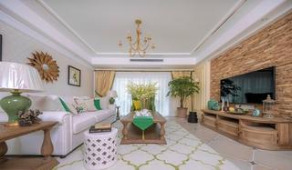 混搭风格三居室装修客厅效果图装修