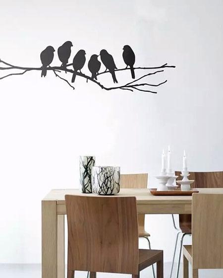 餐厅贴纸背景墙装修设计
