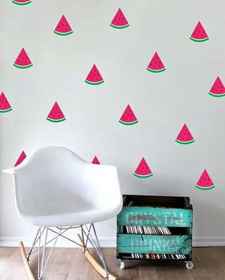 背景墙贴纸装潢设计图