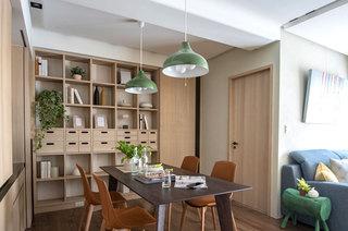 60平日式公寓餐厅装潢图