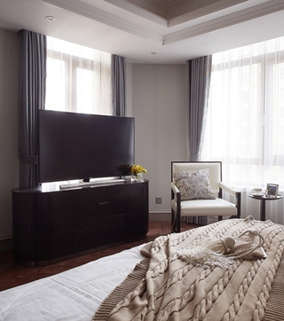 美式风格三室两厅装修卧室电视柜