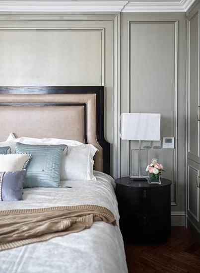 美式风格三室两厅装修卧室背景墙装修