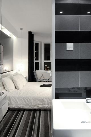 简约风格三居室装修卧室地板装修