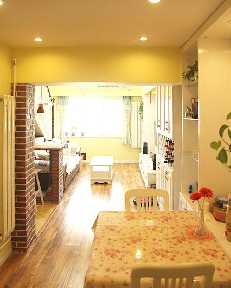 120平田园风格三居餐厅桌布图片