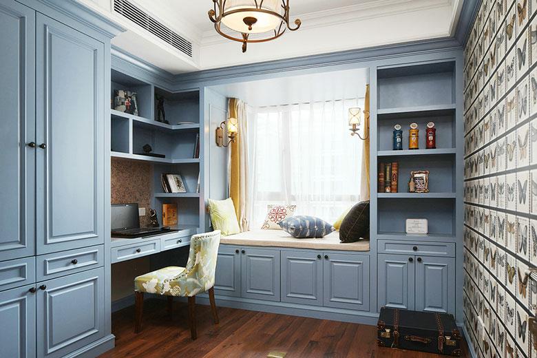 125㎡美式风格三居室书房图片大全