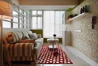 80平旧房改造装修客厅效果图