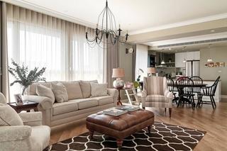 美式风格三居客厅沙发效果图