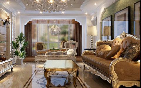 5-10万120平米欧式四居室装修效果图,欧式风格装修图