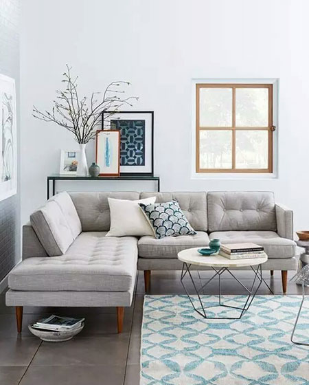 客厅转角沙发效果图