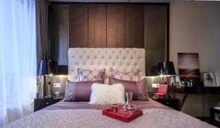 低奢简欧风格卧室背景墙设计