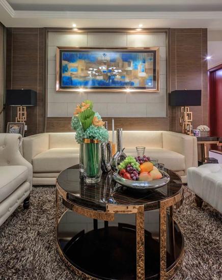 简欧风客厅 沙发抽象装饰画欣赏