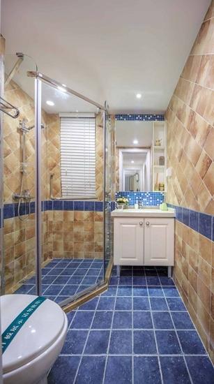 120平地中海风格三居卫生间瓷砖图片