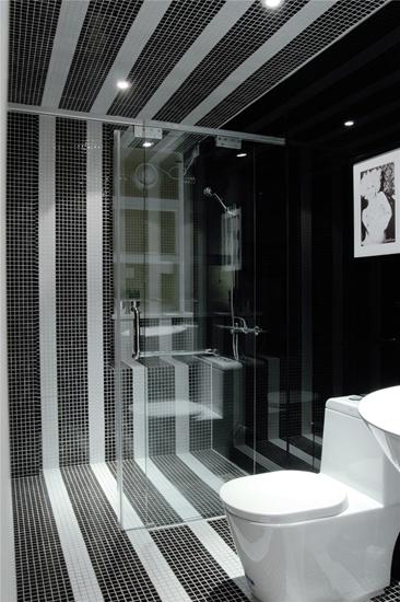 摩登简欧风卫生间 马赛克瓷砖效果图