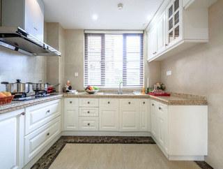 大气简洁别墅厨房设计图