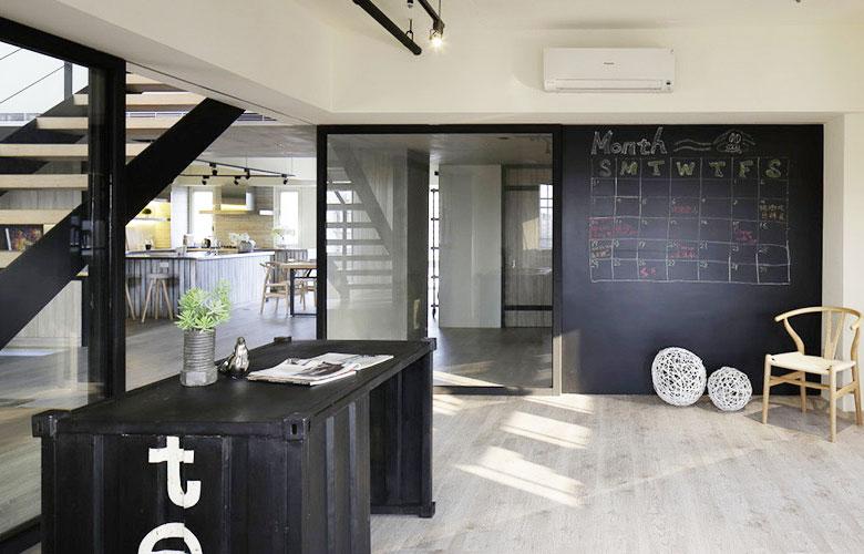 280平loft公寓书房效果图设计
