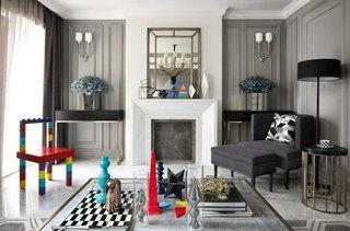 简约风格联排别墅客厅装修设计