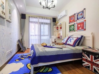 简约风格三室两厅装修儿童房效果图