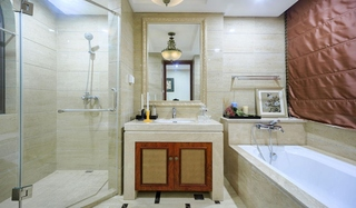 简欧风格三居室装修卫生间效果图