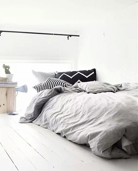 阁楼卧室床垫效果图
