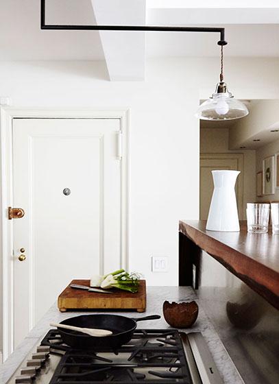 简约现代单身公寓厨房图