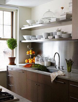 简约现代单身公寓厨房布置图