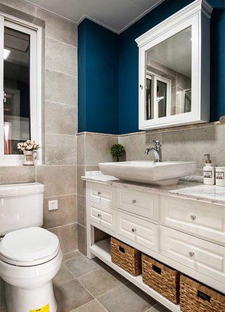 89㎡美式两居室卫生间效果图
