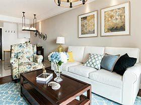 89㎡美式两居室设计图片  理想型家居