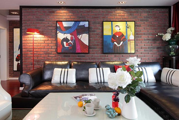 别致的混搭风格装修 这样的三居室谁都喜欢混搭客厅
