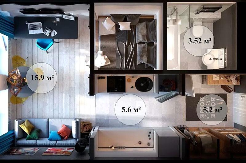 30平小户型单身公寓装修