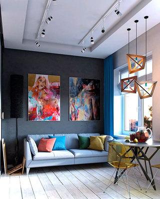 30平单身公寓客厅效果图