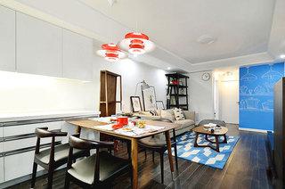 93平北欧两居室餐厅装潢图