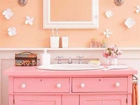 家居小粉红  10个粉色系卫生间图片