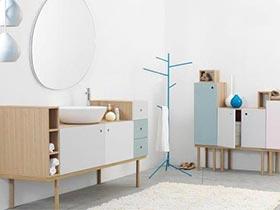 6款洗手间置物架摆放图 实用的收纳必备品